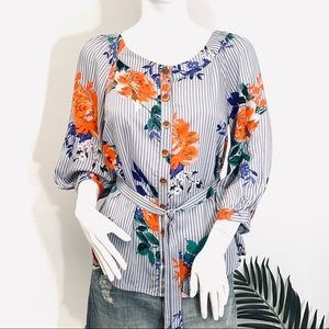 NWT Anthropology | Maeve Lilorne Floral Buttondown